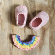 Canberra Clogs - 100% wool felted custom made baby shoes