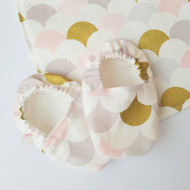 Baby Gift Box-Metallic Gold and Pink