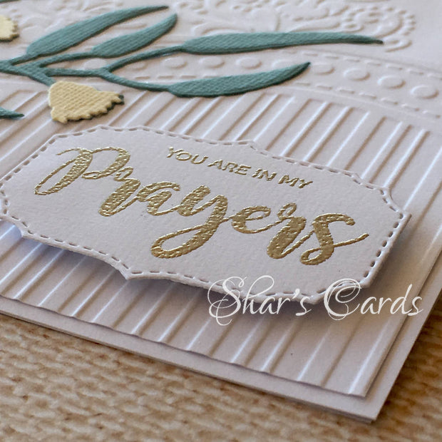Elegant Embossed Sympathy and all-occasion Card