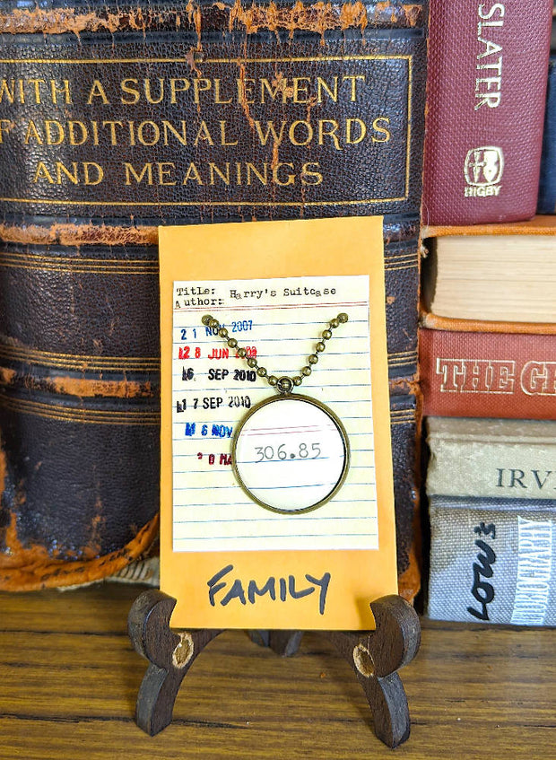 Family (306.85) Dewey Decimal System Necklace