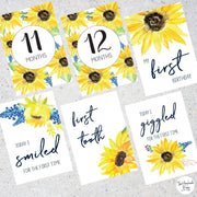 Sunflower Baby Milestone Cards