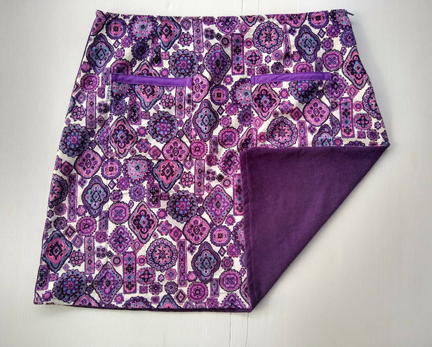 Purple Paisley Skirt - size 20 - womens aline skirt