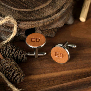 Personalised Leather Cufflinks (2 initials)