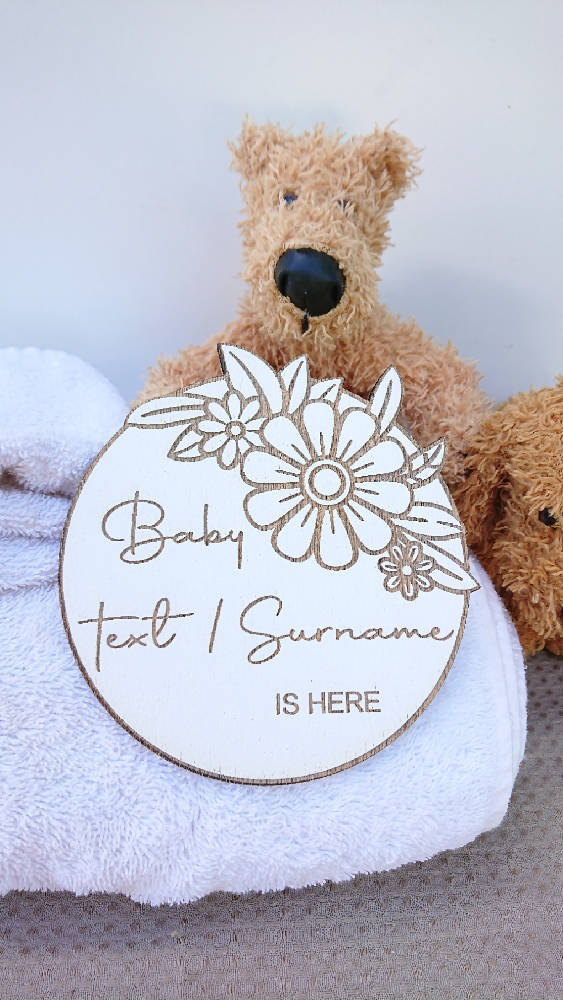 Birth Announcement Plaques (SET OF 2, YOUR CHOICE)