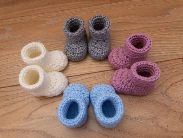 BABY ROLL-TOP BOOTIES - MADE TO ORDER