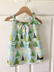 SNOWY FIR TREES | CHRISTMAS DRESS | SIZE 1