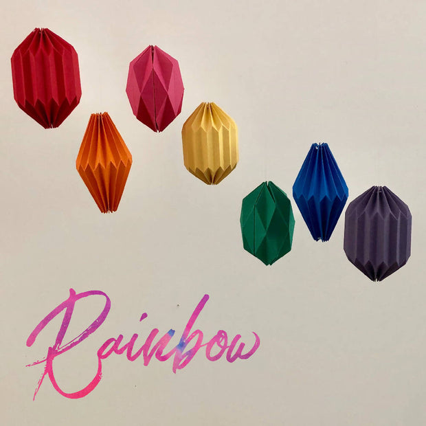 Flying Papper Bird Mobile - 'Rainbow'