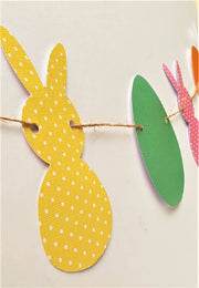 Easter Bunny and Egg Bunting Garland