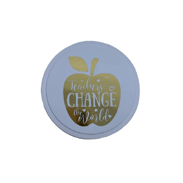 Teachers Change The World Candle Tin