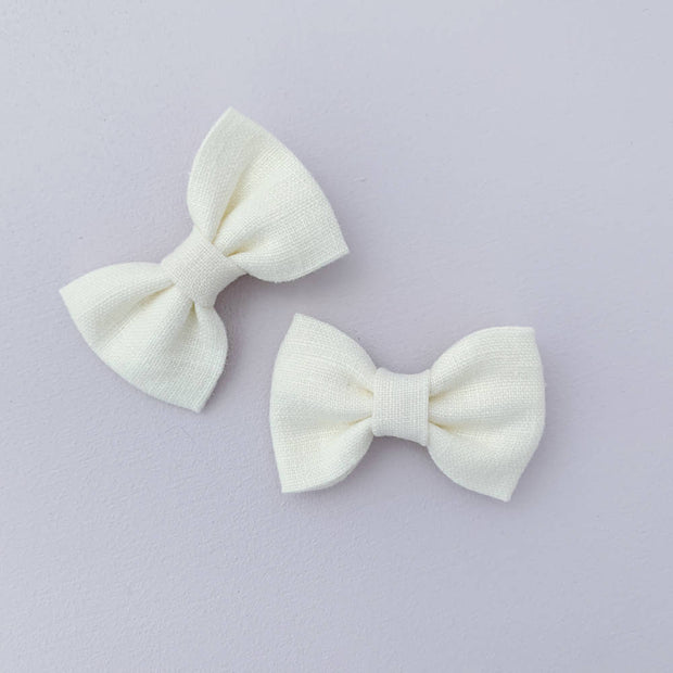 Pigtail Bows || Clips - Set #44