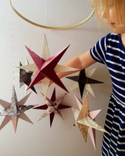 Origami Star Hooped Mobile