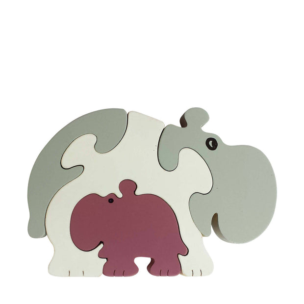 Hippopotamus Wooden Animal Puzzle