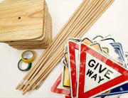 Wooden Toys | Kids Road Sign Set | Road Signs For Kids | DSS Handmade