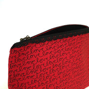 Zippered Cosmetic Bag - Love