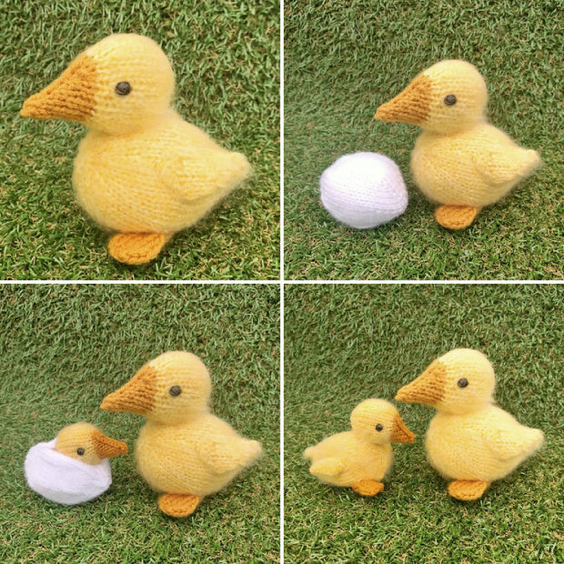 Knitted Duck and REVERSIBLE duckling