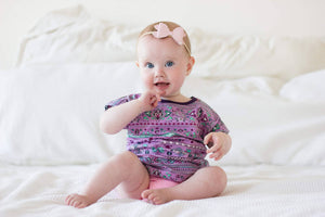 organic girls t-shirt, purple summer top, toddler t-shirt