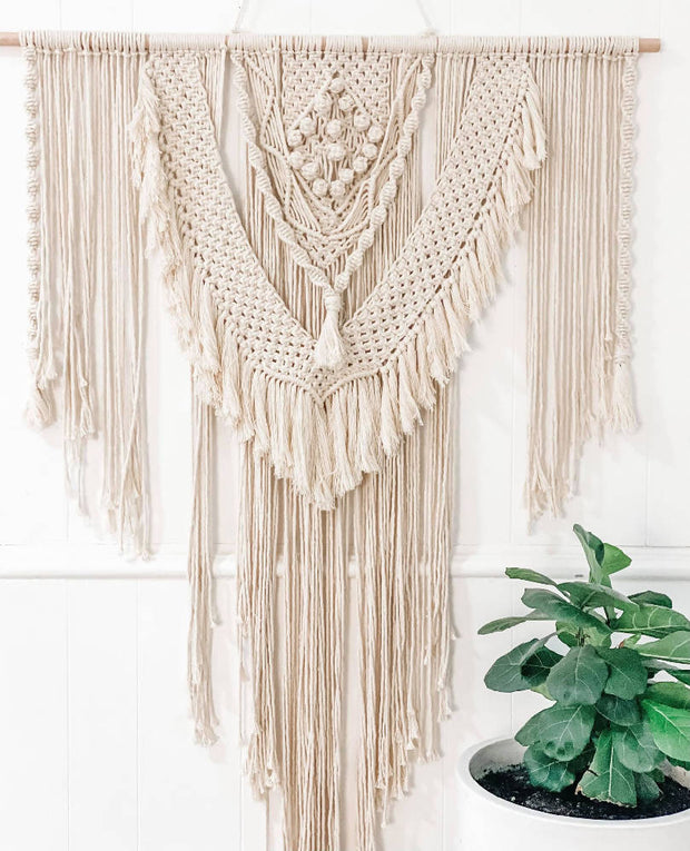 """ANGELINA"" MACRAME WALL HANGING"