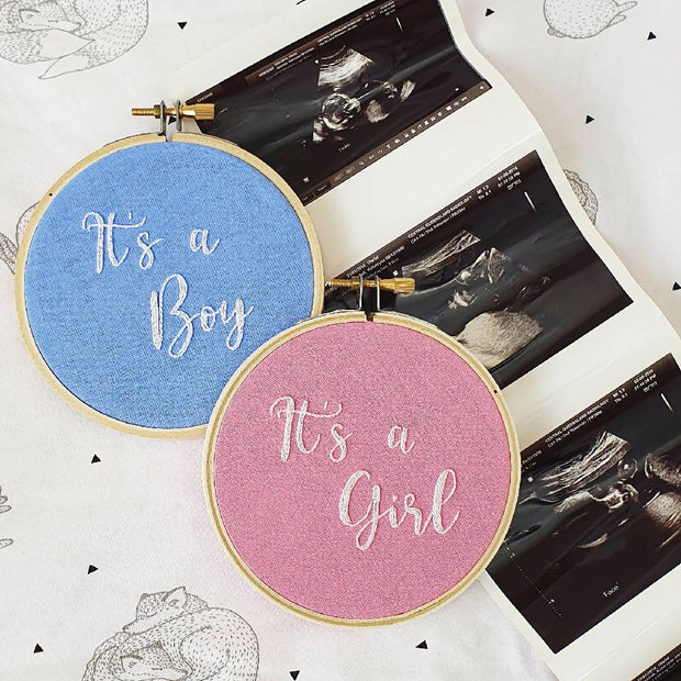 It's a Girl Baby Embroidery Hoop