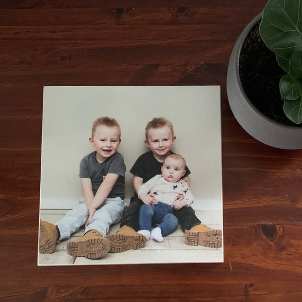 "Custom 8"" square wooden photoblock"