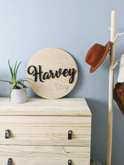 60cm Personalised Name Sign | Stained