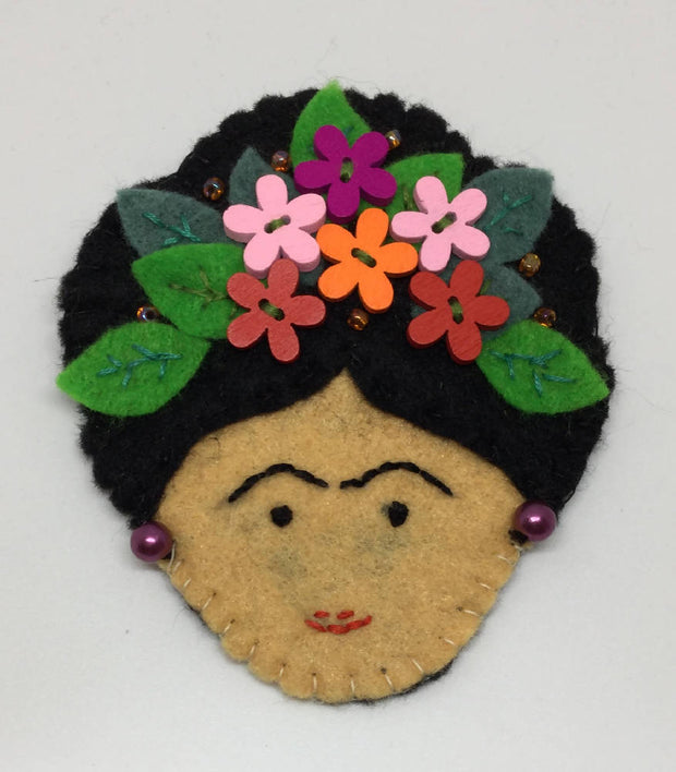 Frida Kahlo inspired Statement Brooch