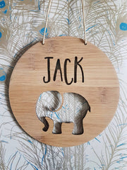 Elephant Wall Hanging (Bamboo or Pastel Coloured Acrylic)