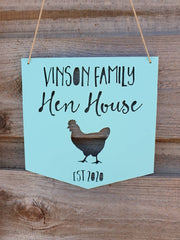 Personalised Hen House Wooden Sign
