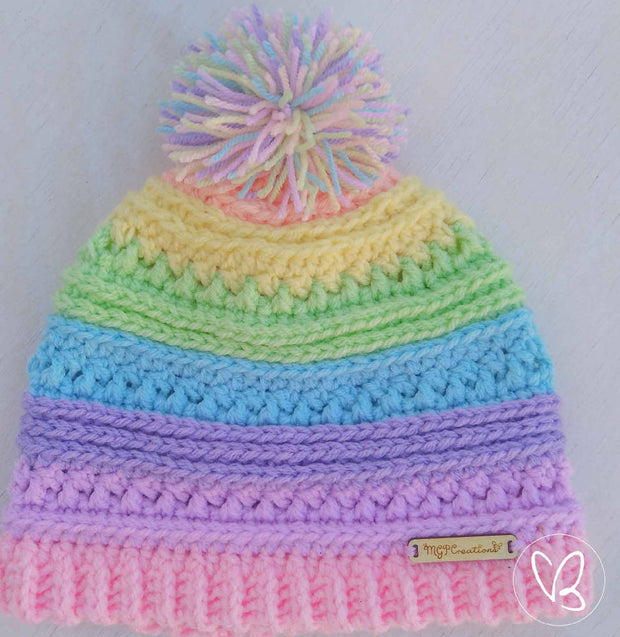 Pastel Rainbow Made To Order Beanie