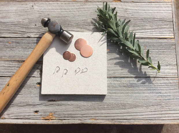 Workshop in a box - learn to make hammered earrings