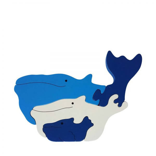 Whale Wooden Animal Puzzle