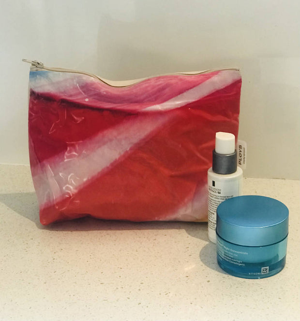 Toiletry bags - recycled pool inflatables