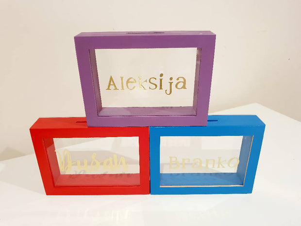 A5 Size Handmade Money Box. Transparent