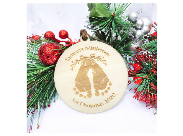 personalised christmas decoration - mistletoes