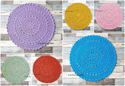 MADE TO ORDER 100cm Crochet Floor Rug