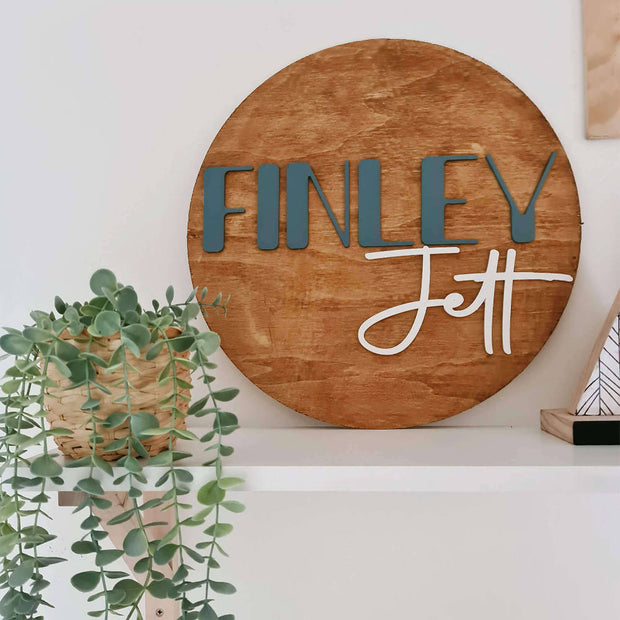 45cm Personalised Name Sign | Stained