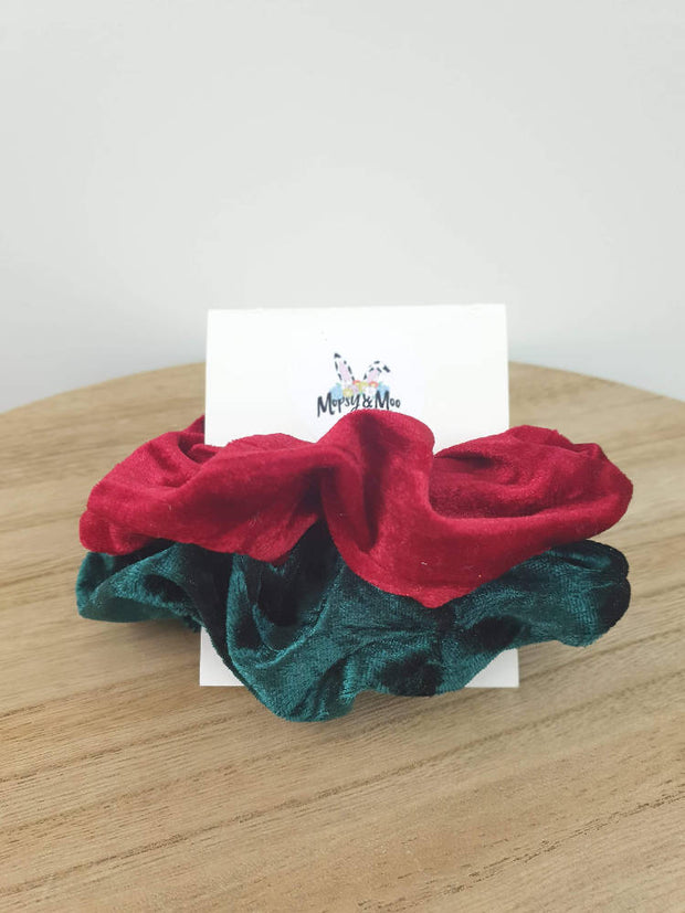 Christmas Velour Scrunchies