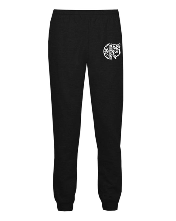Brookings Bobcat Basketball - Athletic Fleece Jogger Pants - Youth 2215 Adult 1215 - DESIGN BB006