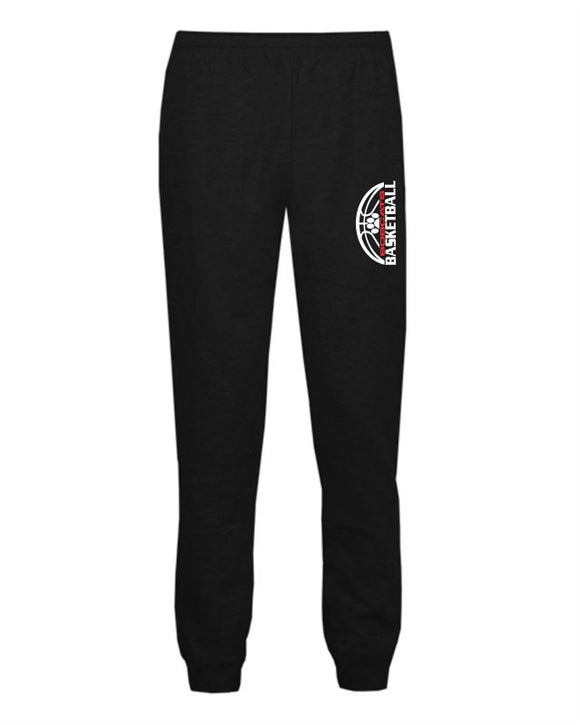 Brookings Bobcat Basketball - Athletic Fleece Jogger Pants - Youth 2215 Adult 1215 - DESIGN BB007