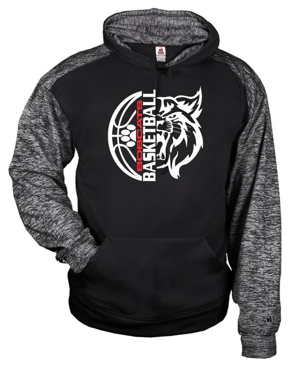 Brookings Bobcat Basketball - Badger - Sport Blend Youth Hood - 2462 - Design BB006