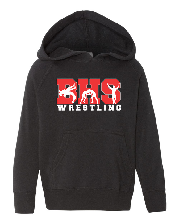 Bobcat Wrestling Toddler Pullover Fleece Hoodie - 3326 - Design BHS10WR