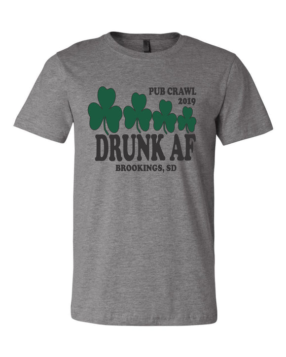 Pub Crawl Drunk AF - Bella Canvas Short Sleeve Tee Shirt - 3001CVC