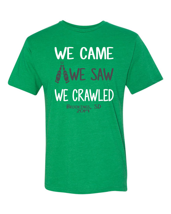 Pub Crawl We Came We Saw We Crawled - Bella Canvas Short Sleeve Tee Shirt - 3001CVC