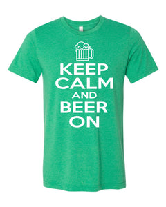 Pub Crawl KEEP CALM - Bella Canvas Short Sleeve Tee Shirt - 3001CVC