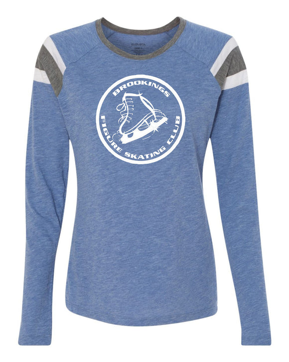 Brookings Figure Skating Club - Augusta Sportswear - Women's Long Sleeve Fanatic Tee - 3012