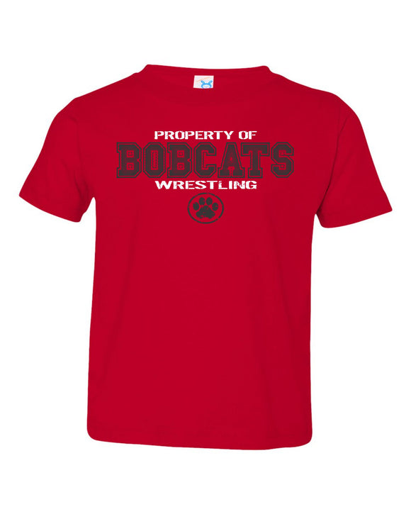 Brookings HS Wrestling - Toddler Fine Jersey Tee - 3321 - Design BHS01 (RED)