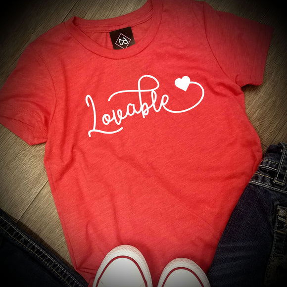 Valentines Day - Lovable - LAT - Youth Fine Jersey T-Shirt - 6101