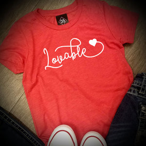 Valentines Day - Lovable - Bella + Canvas - Women's Relaxed Short Sleeve Jersey Tee - 6400
