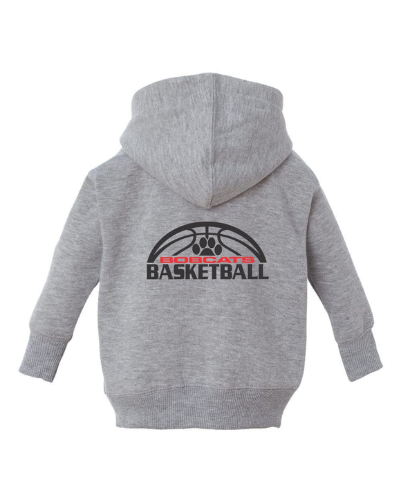 Brookings Bobcat Basketball - Infant Zip Fleece Hoodie - 3446 - Design BB007