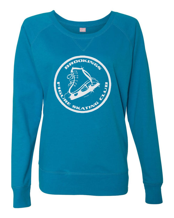 Brookings Figure Skating Club - LAT - Women's Slouchy French Terry Pullover - 3762
