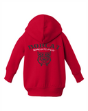 Bobcat Wrestling Infant Zip Fleece Hoodie - 3446 - Design BHS09WR